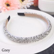 Bridal Children Crown Headwear Ornament Crystal Headband Rhinestone Hair Band Grey