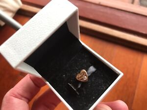 FRIENDSHIP HEART Genuine PANDORA Rose GOLD Plated/Zirconia BEST FRIEND Charm