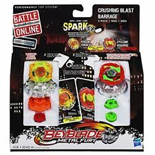 Beyblade Metal Fury 2 Pk - Crushing Blast Barrage -Poison Zurafa/Cyclone Aquario