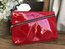 YSL Beauty Red Faux Patent Leather Makeup Cosmetics Bag, Travel Pouch VGC