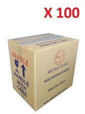 100 Cardboard Packing Boxes Removalist Moving Storage Heavy Duty Carton