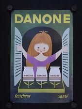 Affiche YAOURT DANONE par ALAIN GAUTHIER yoghourt Yogurt Joghurt 40X60 cm
