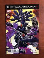 Rocket Raccoon And Groot #8 (2016) 9.2 NM Marvel Key Issue Comic Book Civil War
