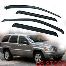 For Jeep Grand Cherokee 99-04 Smoke Window Visor Vent Rain Guard Shade Smoke