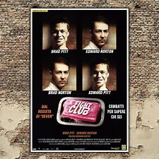 Film Poster Fight Club - Brad Pitt - Edward Norton-  70x100 CM
