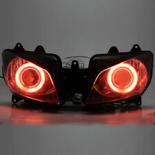 Red Angel Eyes Projector HID Assembly Headlight For Yamaha YZF R1 1998-1999