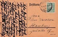 Postkarte Jahr 1925 verschickt von Freiburg nach Hamburg Text lesenswert
