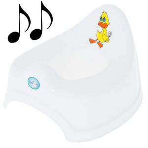 Potty Training - Musical Potty For Toddlers Easy To Clean - Duck (White)