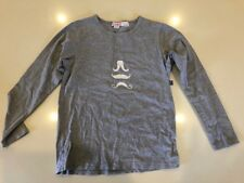 Plum boys long sleeve t-shirt - Moustache dsign.  Used size 7