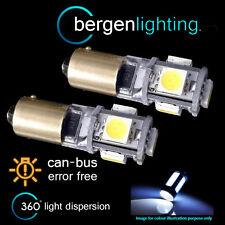 2x BA9S T4W 233 CANBUS BIANCO SENZA ERRORI 5 LAMPADE LUCI POSIZIONE LED HID