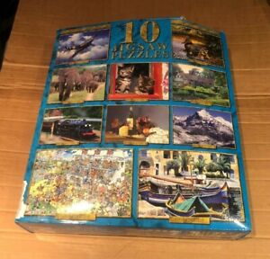 9 JIGSAWS PUZZLE PACK in Box 6250pcs All Complete (500pc Cats Missing)