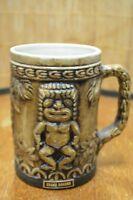 Vintage Grand Bahama Handle Brown Tiki Coffee Mug