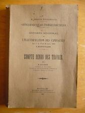R. Couvret, Congrès de l'électrification des campagnes. Compte rendu des travaux