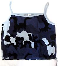 Outdoor-camouflage bleu Tarn-Spaghetti Top démoniaque girl shirt-Taille Size M