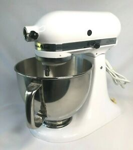 Kitchenaid 5 Quart Artisan Tilt Head Stand Mixer White - See Condition