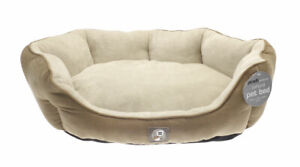 Oxford Luxury Ped Bed 65 cm x 50 cm x 20 cm Light Brown Colour
