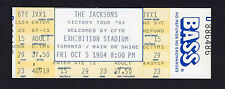 1984 Michael Jackson unused concert ticket Victory Tour Thriller Toronto Canada