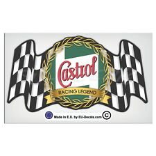 150mm-5.9'' Vintage Castrol oil Racing Legend Laminated Decal Sticker classic