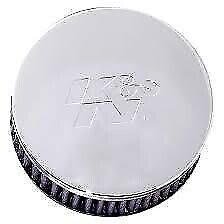K&N Engineering - RC-0850 - Universal Round Straight Air Filter, Chrome End Cap