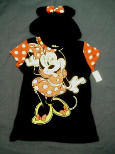 NWT Minnie Mickey Mouse Hooded Top Costume Junior Girl S 3-5 M 7-9 L 11-13 New