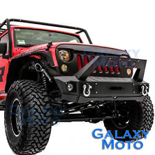 Rock Crawler Front Bumper+Winch Plate+Winch Metal Cover for 07-18 Wrangler JK