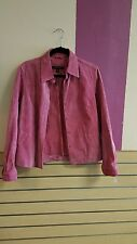 Dress bleather jacket suede pink revue with lining small nice good condition