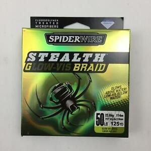 Spiderwire Stealth Braid Filler Spools Glow-Vis Green 50Lb 125 Yds