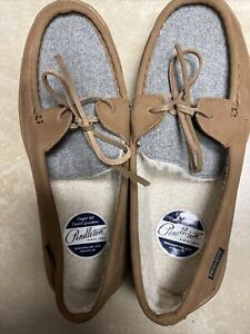 Pendleton Suede Rancho Moccasin Slipper Toasted Coconut Men's Size 10