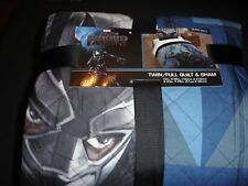 Marvel Black Panther Twin/Full Quilt & Sham,72Inx86In, New With Tags