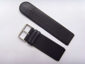 M&M Original Spare Band Leather Wrist Model 54032 Watch Black Strap