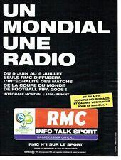 Publicité Advertising 037  2006   radio RMC   le mondial Fifa Germany