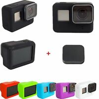 1 Set Lens Cap Cover Protector + Silicone Housing Case For Gopro Hero 5 Camera