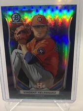 2014 Bowman Chrome Blue Bubble Refractor Rookie Vincent Velasquez 64/99