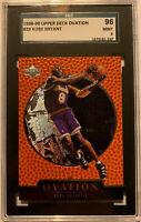 1998-99 Upper Deck Ovation #29 Kobe Bryant Card Graded SGC 9 Mint Lakers