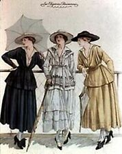 LADIES IN 1920~counted cross stitch pattern #482~People Lady Victorian Chart