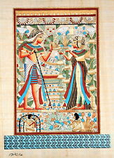 "Egyptian Papyrus -Hand Made - 9"" x 13"" - Ancient Art -King Tut's Wedding Card"