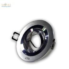 5x foco empotrable Rendondo ALU Cepillado orientable, MR16 GU5, 3 12v,