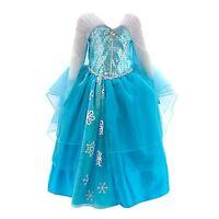 Geniune Disney Store Elsa Frozen Deluxe Fancy Dress Costume 11-12 Years