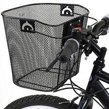 BIKE/BICYCLE METAL BASKET & QUICK RELEASE MECHANISM MESH SHOPPING CARRY HANDLE