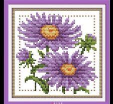 Set Lila puntada en cruz 14CT Cruz puntada flores Cruz Stitch Kits para bordado