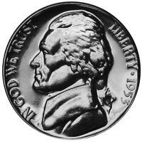 1953 Jefferson Nickel Gem Proof Coin