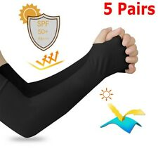 5Pairs Cooling Arm Sleeves Cover UV Sun Protection For Men Women Unisex