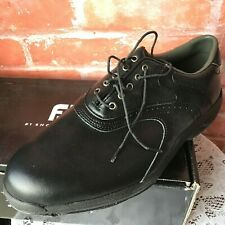 Vintage New FootJoy GreenJoys 45462 Men's Sz 10 Wide Black Golf Shoes