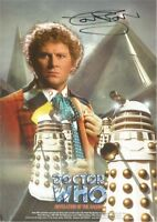 Doctor Who Official 'REVELATION OF THE DALEKS' A4 Print Signed Colin Baker - NEW