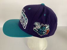 Charlotte Hornets Mitchell and Ness NBA Snapback Hat Cap Wool Blend