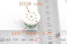 1Piece  Gold Mini ECC40 TO instead 12AU7/ECC82 tube converter adapter 6.3V heat