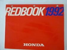 Honda Motors Division Redbook 1992 distributed dealers only Red book color pages