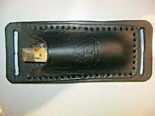 Leather Trapper Knife Sheath Handmade in Texas Folding Knife Holster Horizontal