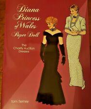 1997 Diana Princess of Wales Paper Dolls UNCUT The Charity Auction Dresses MINT