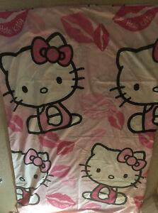 Sanrio Hello Kitty Single Duvet cover & pillowcase, Pink, Good Condition